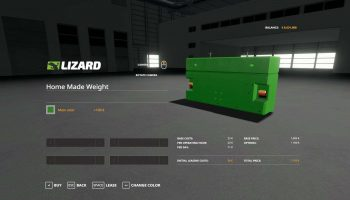 HOME MADE WEIGHT WITH MULTICOLOR V1.0 для Farming Simulator 2019