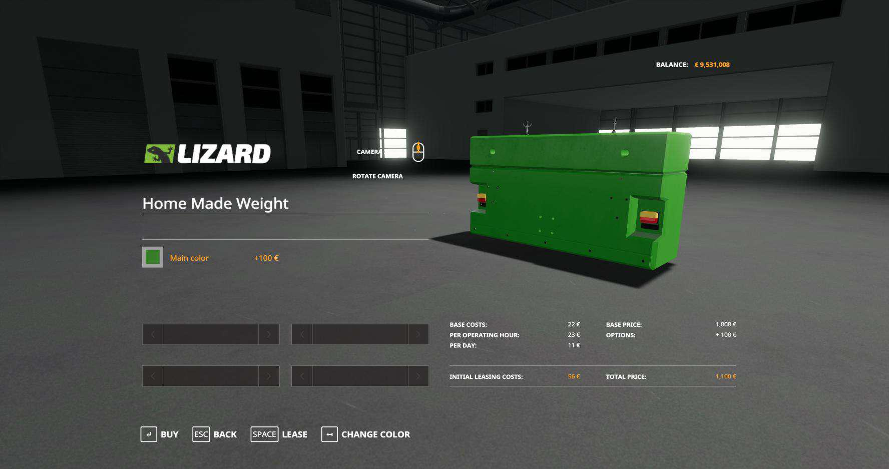 HOME MADE WEIGHT WITH MULTICOLOR V1.0 для Farming Simulator 2019
