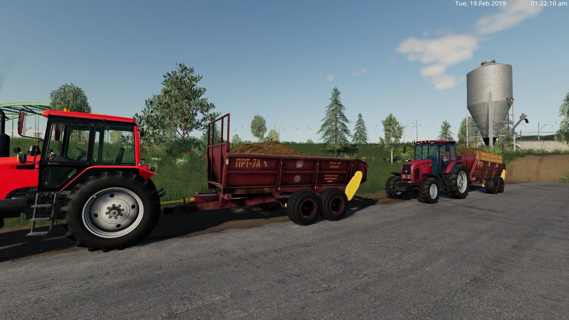 ПРТ-7А И МТТ-9 V1.0 для Farming Simulator 2019