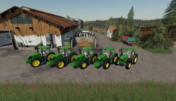 JOHN DEERE 6125R V1.2.0.0 для Farming Simulator 2019