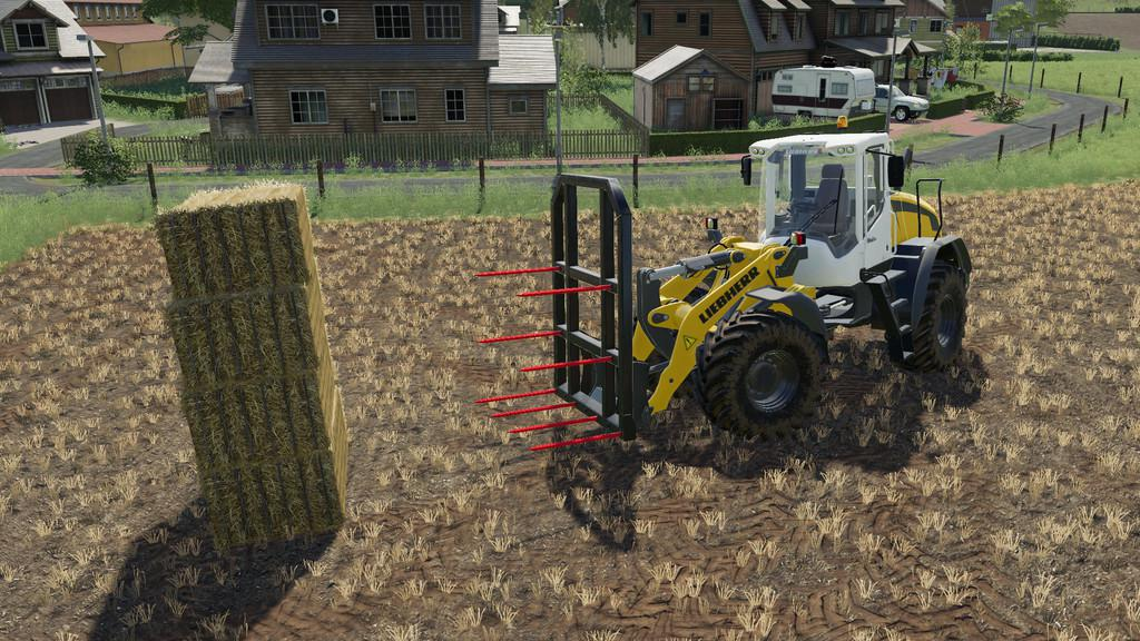WHEELLOADER BALEFORK V1.0.0.0 для Farming Simulator 2019