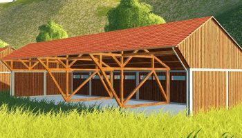 LARGE WOODEN BUILDING V1.0 для Farming Simulator 2019