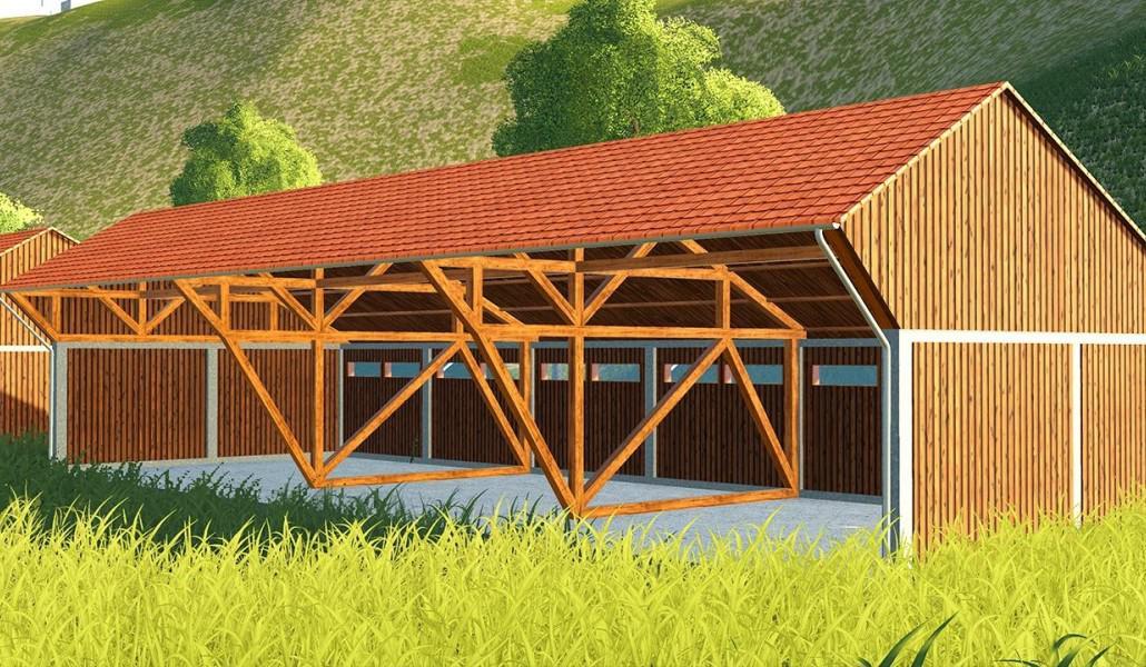 LARGE WOODEN BUILDING V1.0 для Farming Simulator 2019