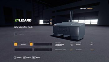 XXL WEIGHT PACK V1.0.0.3 для Farming Simulator 2019