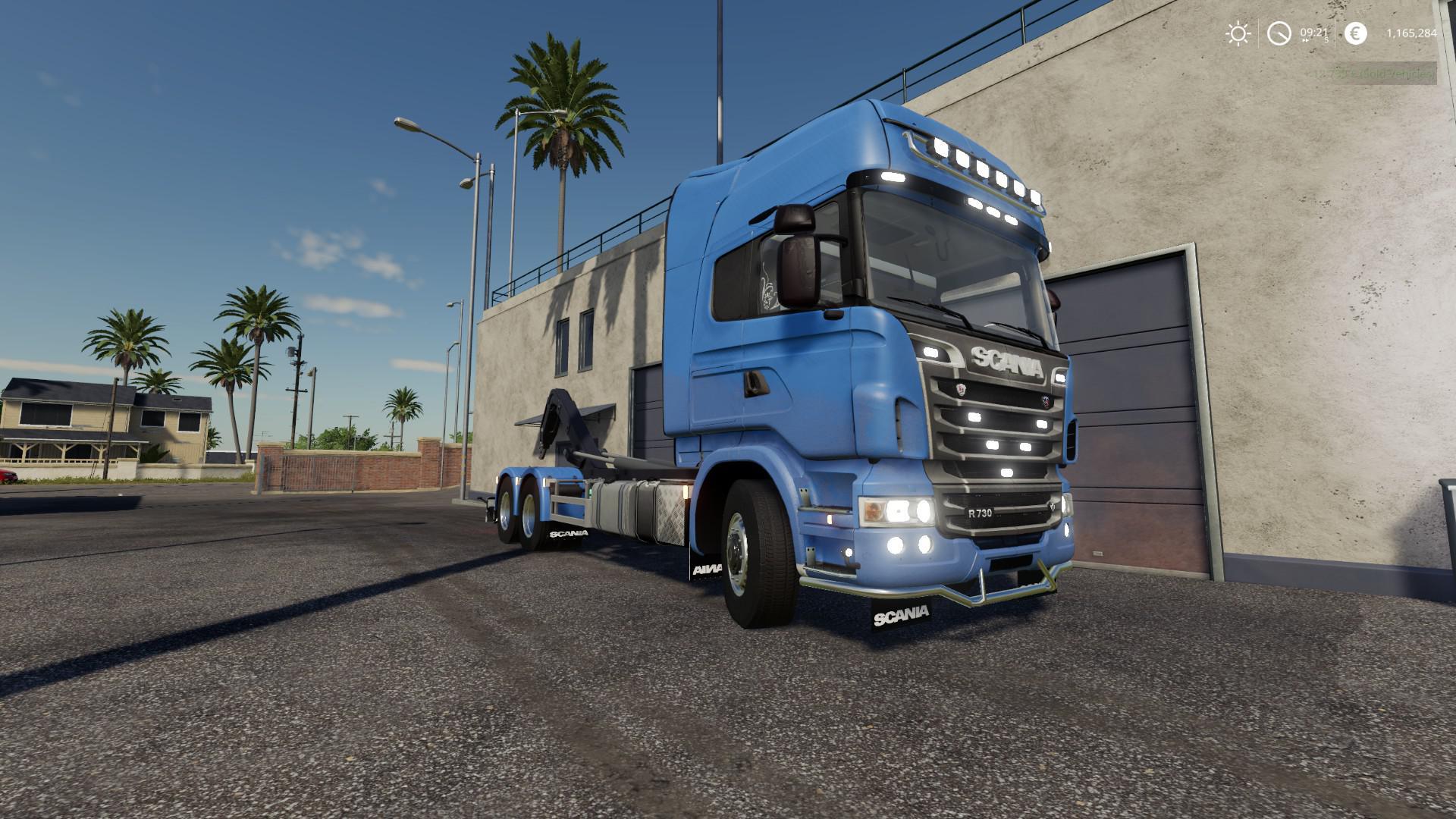 Scania R730 Hooklift v1.0.0.0 для Farming Simulator 2019