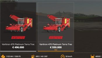 Grimme Varitron 470 для Farming Simulator 2019