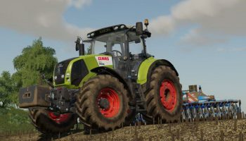 Claas Axion 800 + Weight 900kg v1.0 для Farming Simulator 2019