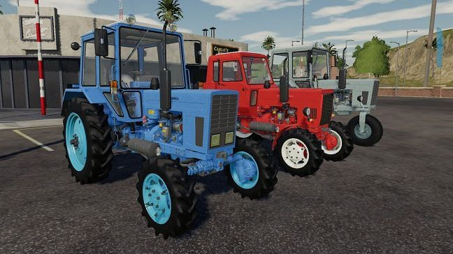 Пак тракторов МТЗ v1.0.0.1 для Farming Simulator 2019 (1.3.x) для Farming Simulator 2019