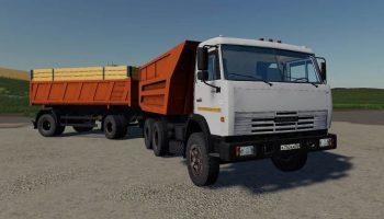 КамАЗ-55111 «Совок» с прицепом версия 1.1 для Farming Simulator 2019 (1.3.x) для Farming Simulator 2019
