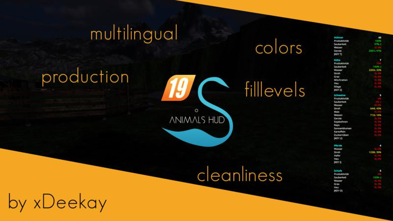 ANIMALS HUD V3.4.0.0 для Farming Simulator 2019