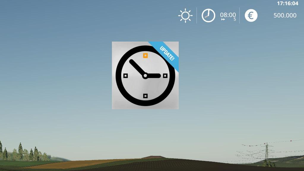 REALCLOCK MOD V1.1.2.0 для Farming Simulator 2019