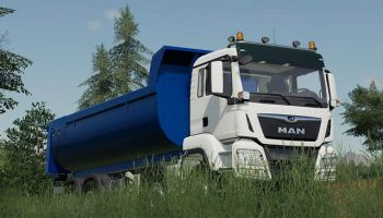 MAN TGS 41.500 8×8 Hooklift v1.0 для Farming Simulator 2019