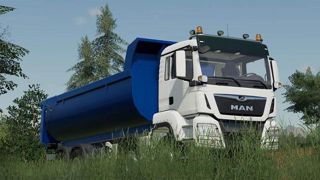 MAN TGS 41.500 8×8 Hooklift v1.0 для Farming Simulator 2019