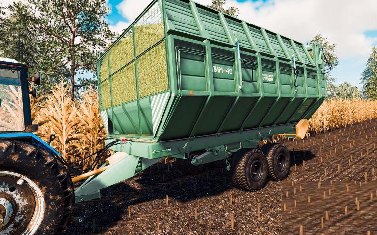 Прицеп ПИМ-40 для Farming Simulator 2019