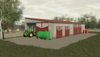 Кирпичный гараж для Farming Simulator 2019
