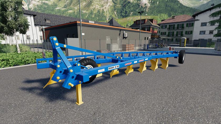 Плуг навесной усиленный 8-40 v1.0 для игры Farming Simulator 2019