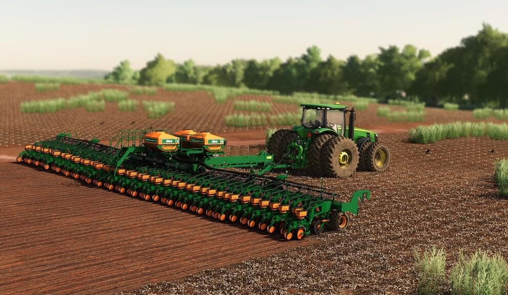 Большая сеялка для Farming Simulator 2019