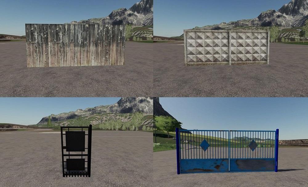 Заборы и ворота для Farming Simulator 2019