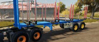 Прицеп для перевозки леса в Farming Simulator 2019