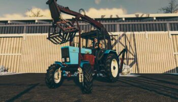Грейферный погрузчик МТЗ 82 для Farming Simulator 2019