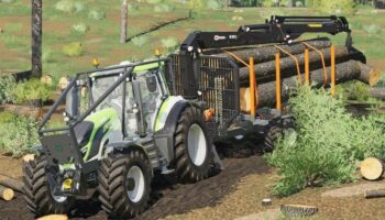 Kronos Trailer для Farming Simulator 2019 (прицеп для леса)